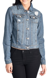 CI SONO Distressed Denim Jacket - Product Mini Image