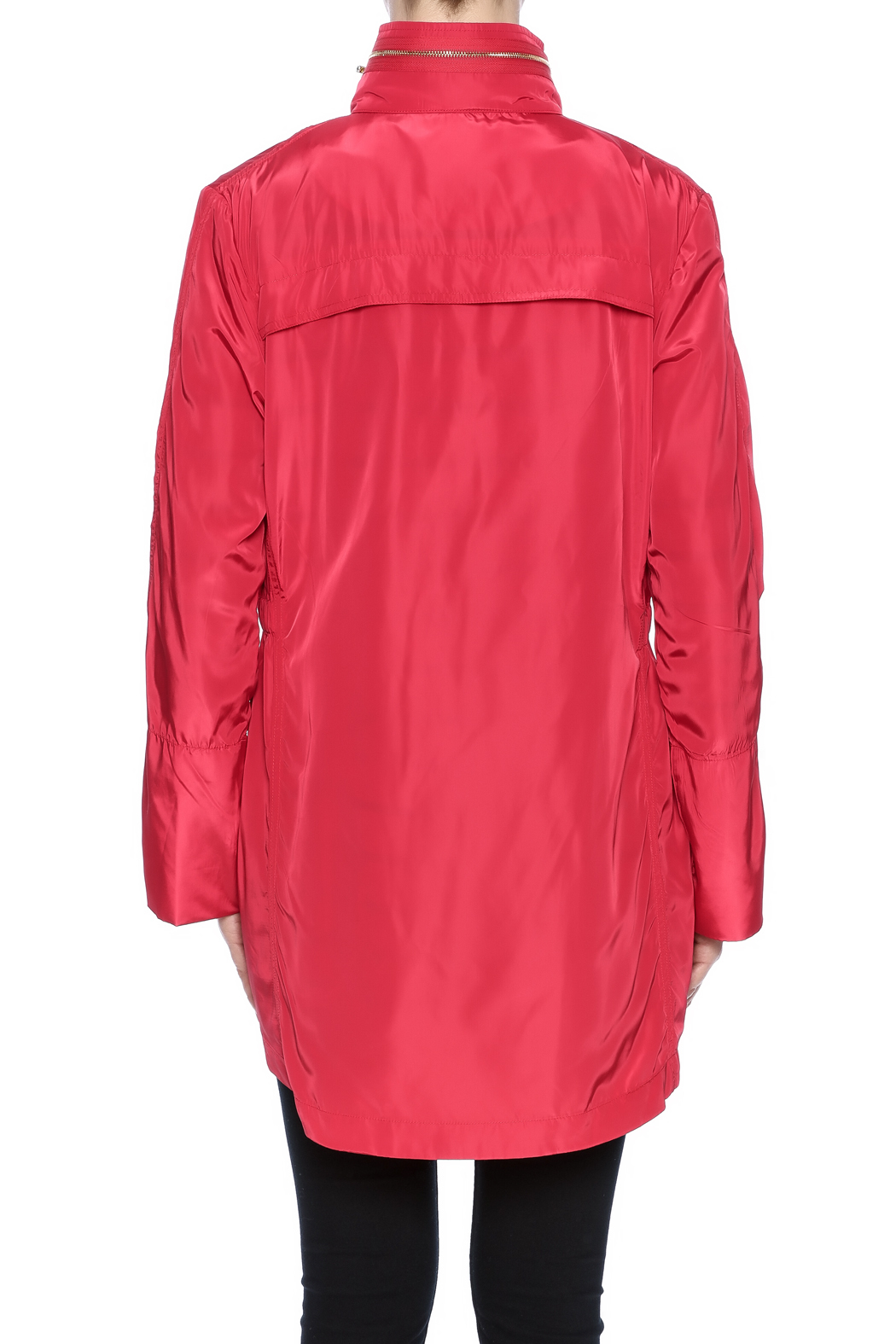 Ciao Milano Red Hooded Jacket - Back Cropped Image