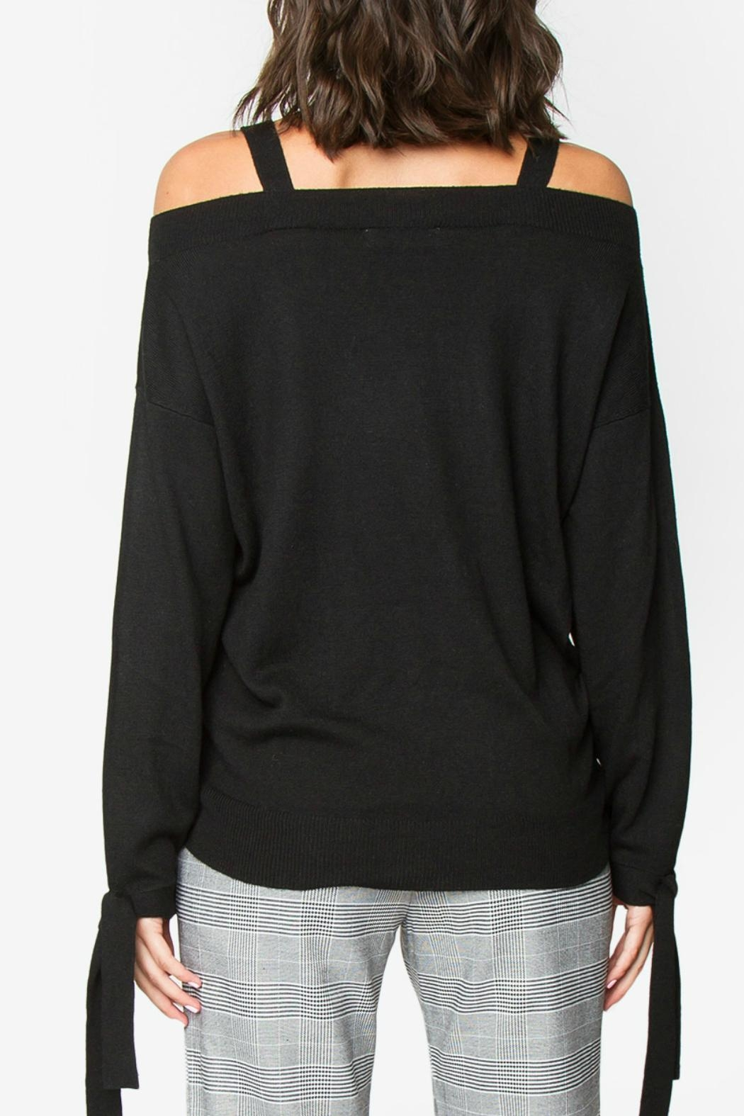 Sugar Lips Ciara Off-The-Shoulder Sweater - Front Full Image