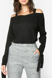 Sugar Lips Ciara Off-The-Shoulder Sweater - Front cropped