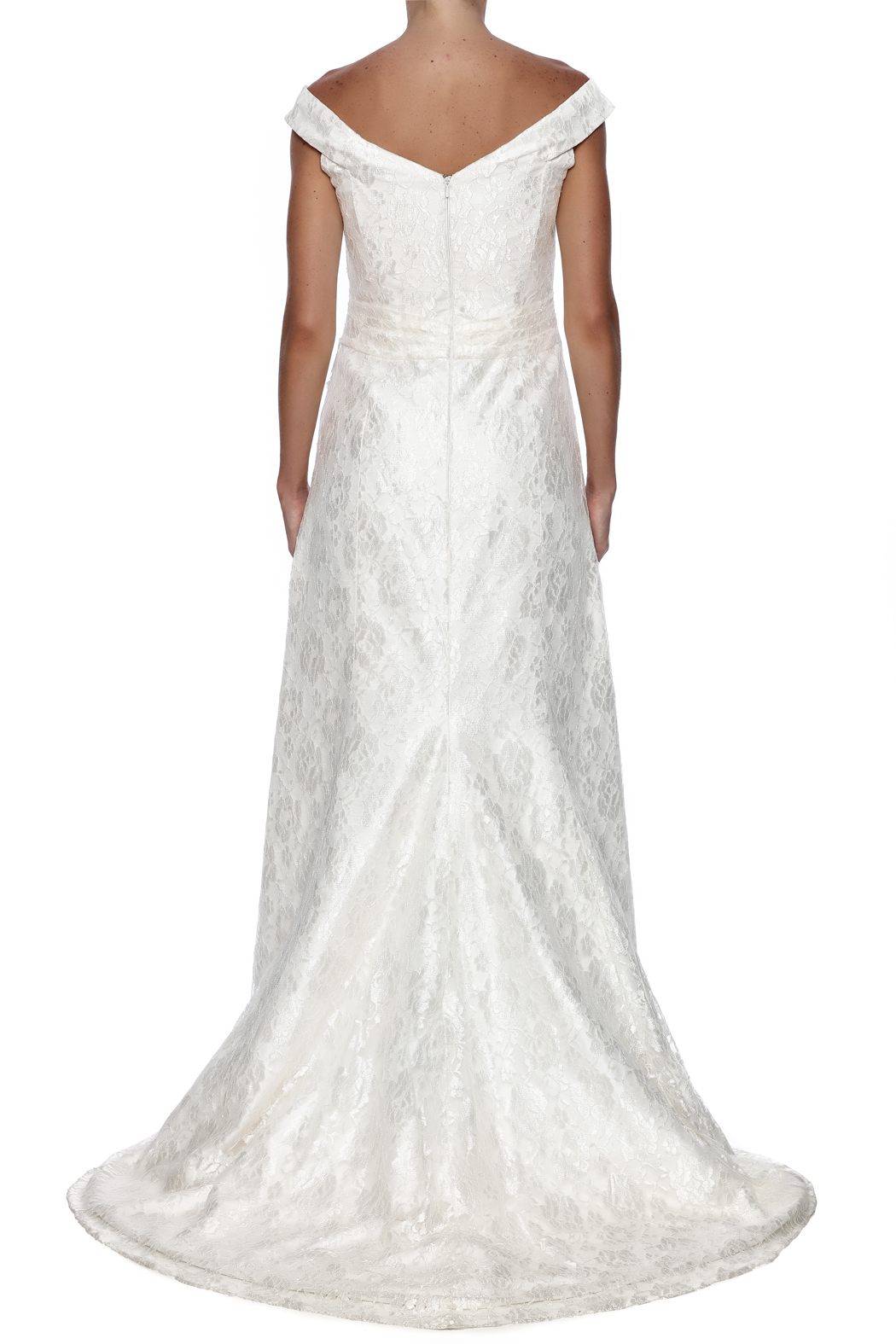 Cicada Lace Heather Gown - Back Cropped Image