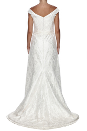 Cicada Lace Heather Gown - Back cropped