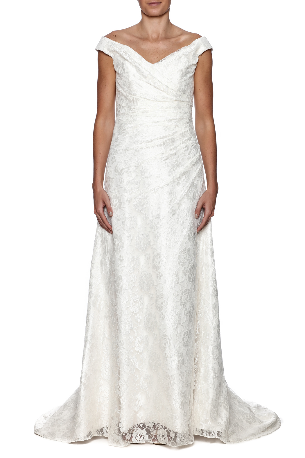Cicada Lace Heather Gown - Front Cropped Image