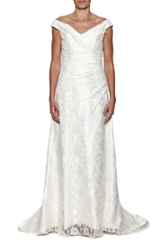 Cicada Lace Heather Gown - Front cropped