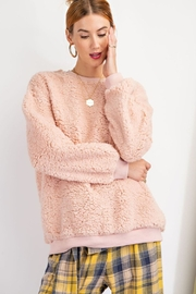 easel  Cici Fuzzy Crew Sweater - Product Mini Image