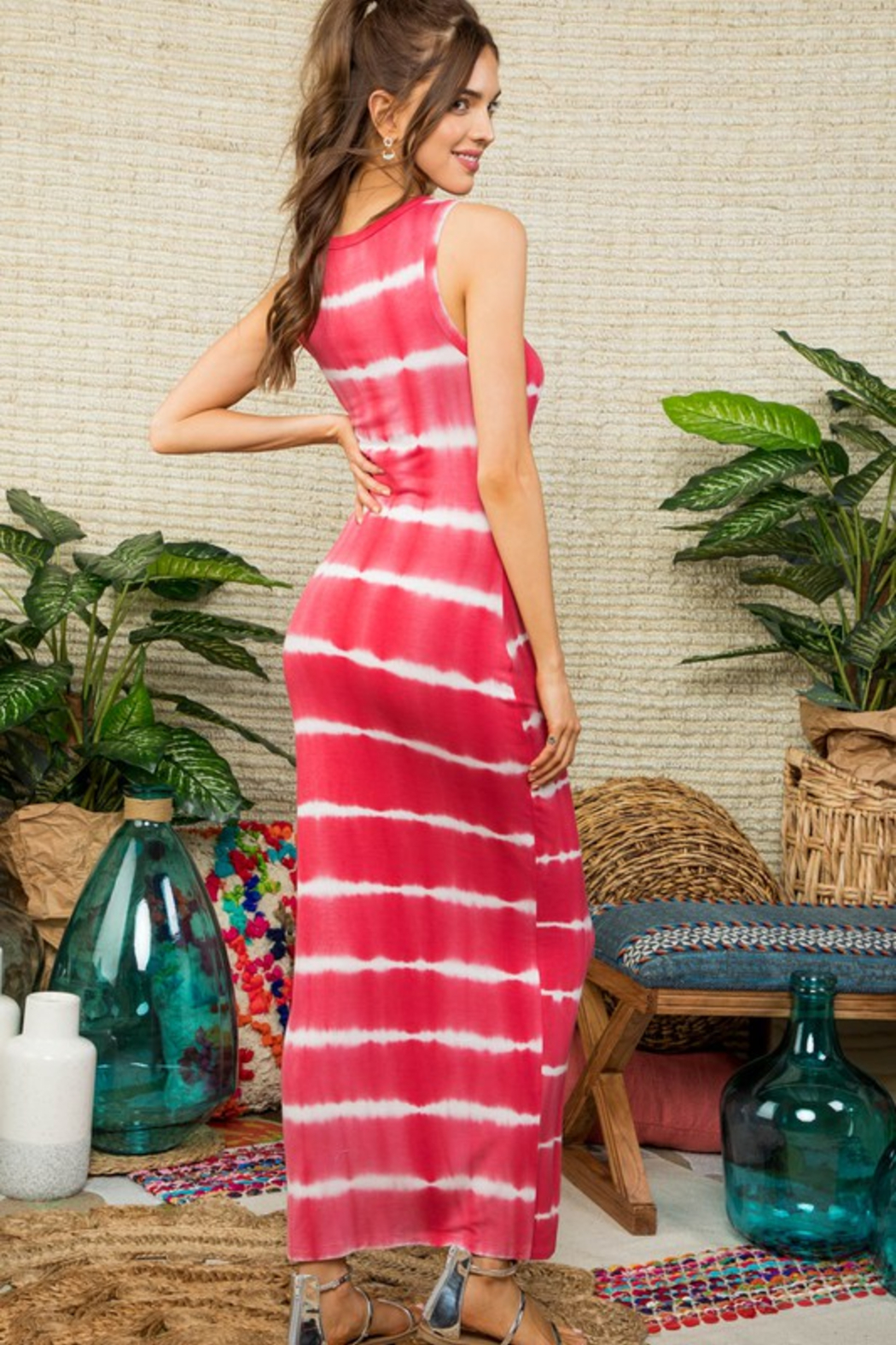 R+D  Cici Tie Dye Maxi - Front Full Image