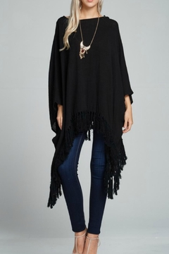Ciel Black Gauze Poncho - Alternate List Image