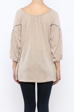 Ciel Boho Taupe Embroidered Top - Alternate List Image