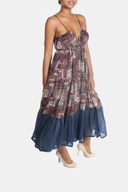 Ciel Bohemian Paisley Maxi Dress - Front full body