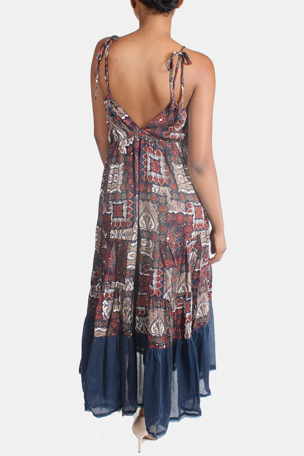 Ciel Bohemian Paisley Maxi Dress - Side Cropped Image