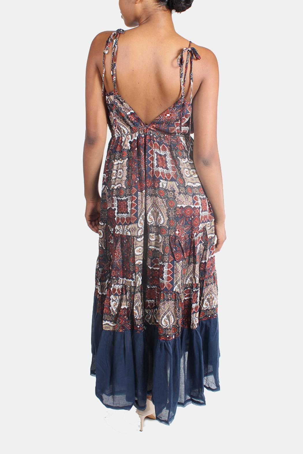 Ciel Bohemian Paisley Maxi Dress - Back Cropped Image
