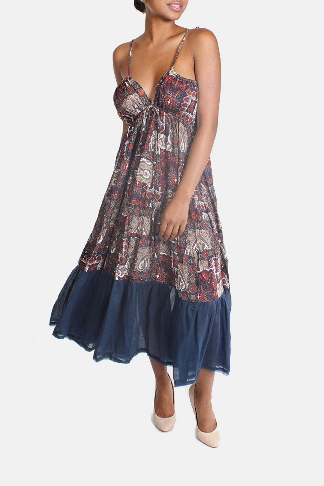Ciel Bohemian Paisley Maxi Dress - Main Image
