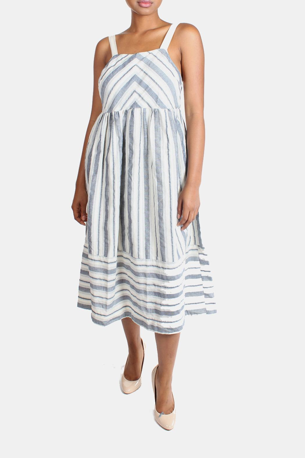 Ciel Shoreside Striped Dress - Main Image