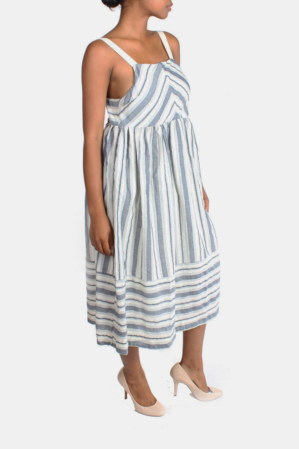 Ciel Shoreside Striped Dress - Side Cropped Image