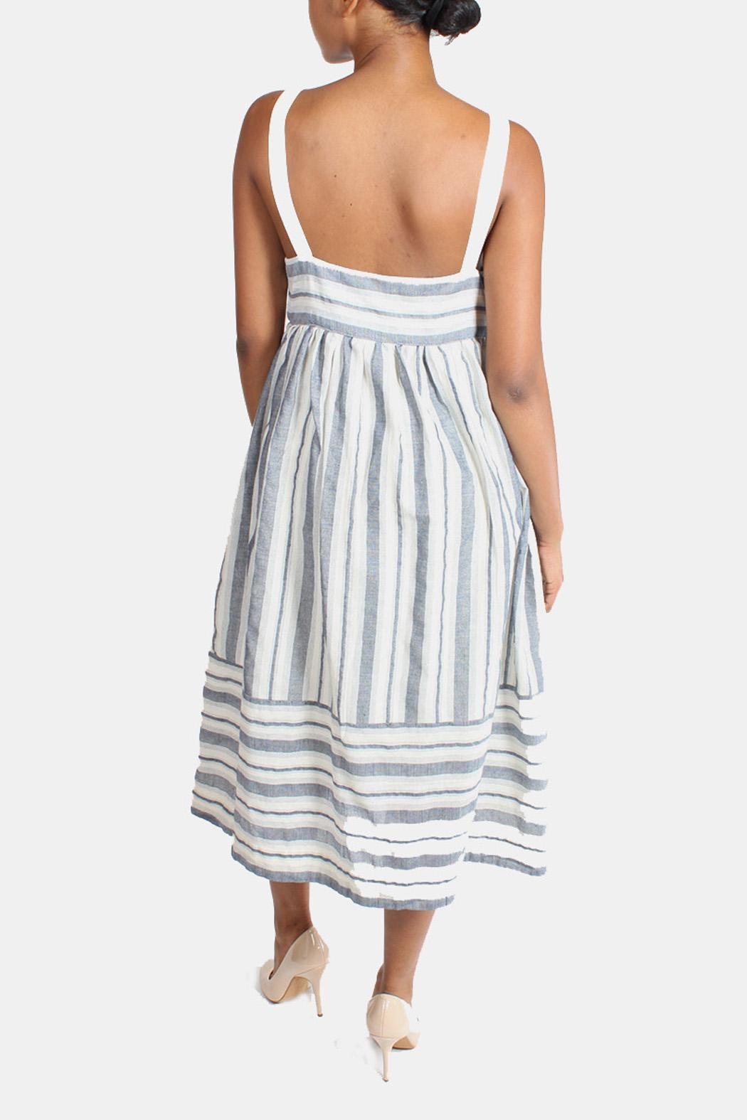 Ciel Shoreside Striped Dress - Back Cropped Image