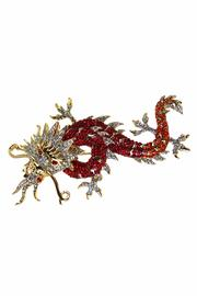 Ciel Collectables Dragon Pin Red Orange - Front full body