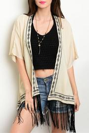 CIEL U.S.A Cream Embroidered Kimono - Product Mini Image