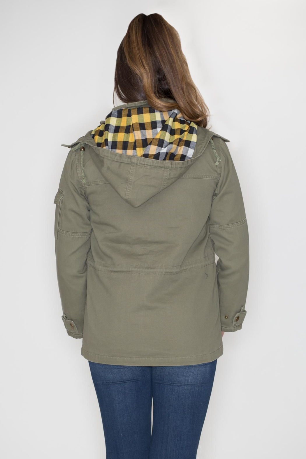 Cielo Anorak Drawstring Jacket - Side Cropped Image