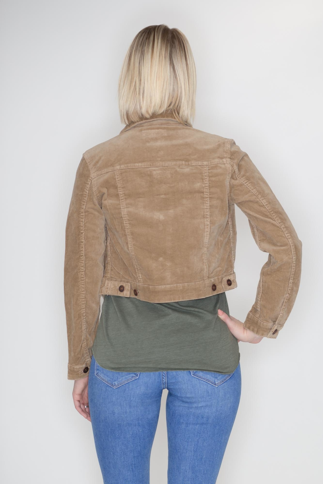 Cielo Cropped Corduroy Jacket - Side Cropped Image