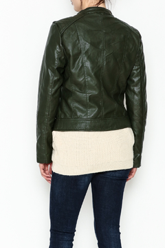 Cielo Hooded Vegan Leather Jacket - Alternate List Image