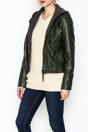 Cielo Hooded Vegan Leather Jacket - Product Mini Image