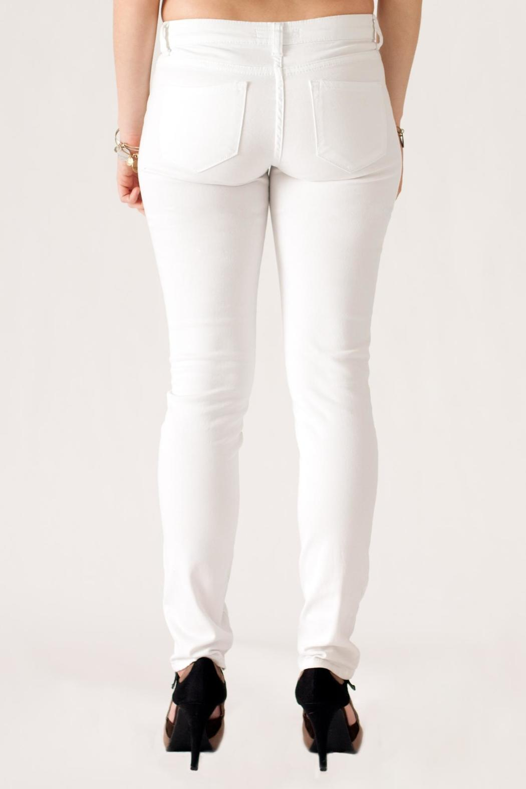 Cielo White Skinny Jeans - Back Cropped Image