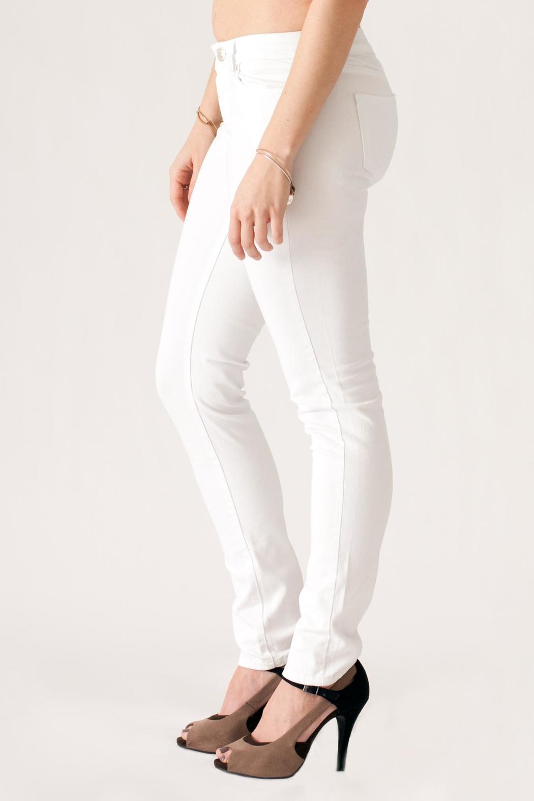 Cielo White Skinny Jeans - Side Cropped Image