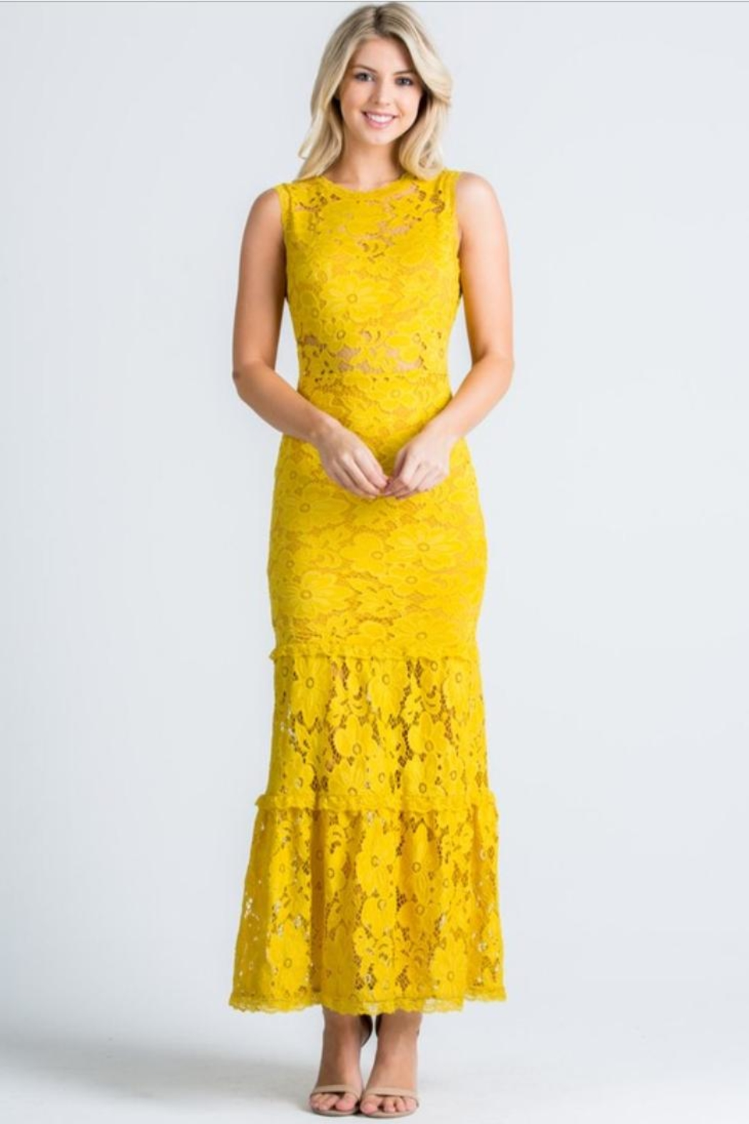Cien Alexa Lace Dress - Front Cropped Image