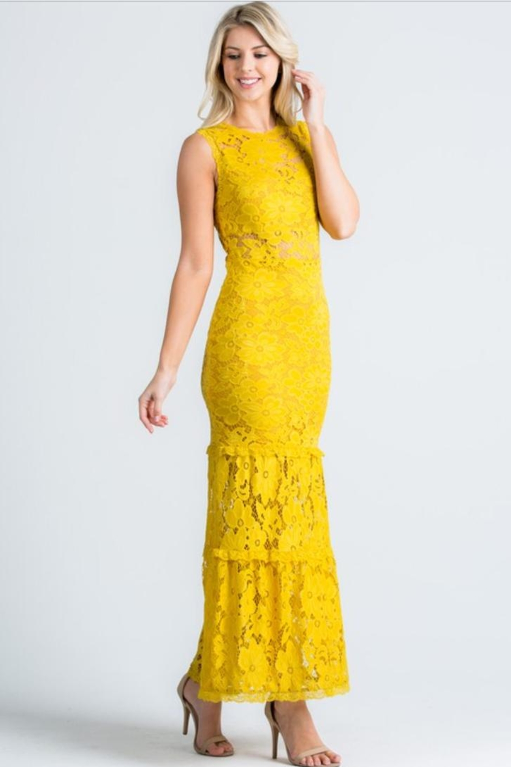 Cien Alexa Lace Dress - Front Full Image
