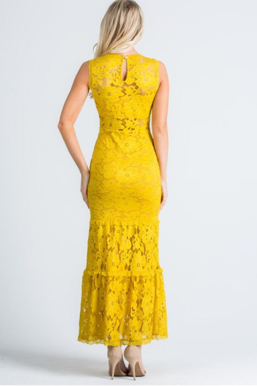 Cien Alexa Lace Dress - Side Cropped Image