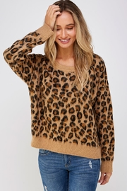 Cien Cheetah Print Sweater - Product Mini Image