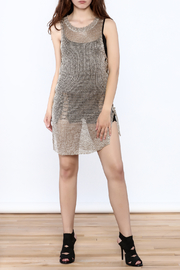 Shoptiques Product: Metallic Sleeveless Dress - Front full body