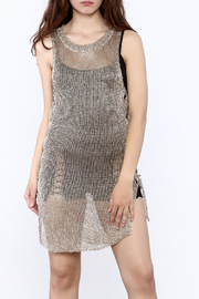 Shoptiques Product: Metallic Sleeveless Dress - Front cropped