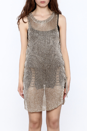 Shoptiques Product: Metallic Sleeveless Dress - Side cropped
