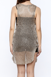 Shoptiques Product: Metallic Sleeveless Dress - Back cropped