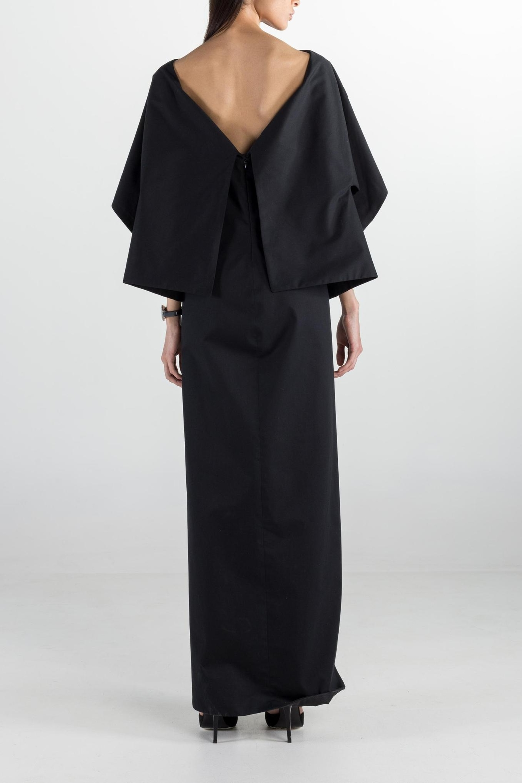 Cihuah Long Cape Dress - Front Full Image