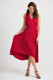 Joseph Ribkoff Cince High Low Midi Dress, Lipstick Red - Product Mini Image