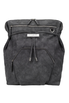 Shoptiques Product: Cinch Convertible Backpack - Midnight Leatherette