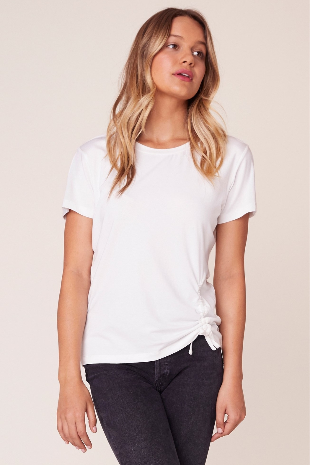 BB Dakota Cinch Me Ruched Tee - Back Cropped Image