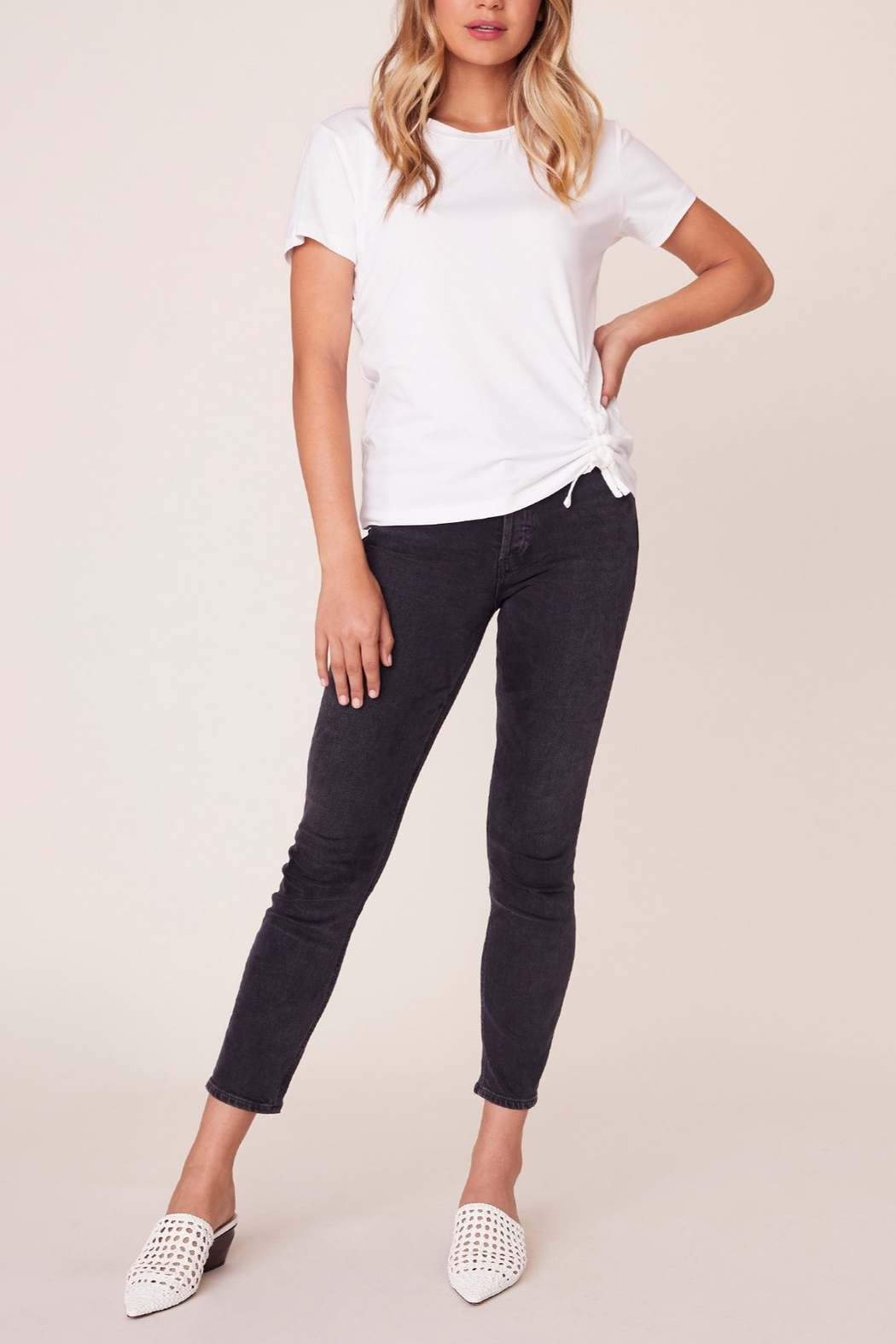BB Dakota Cinch Me Ruched Tee - Front Cropped Image