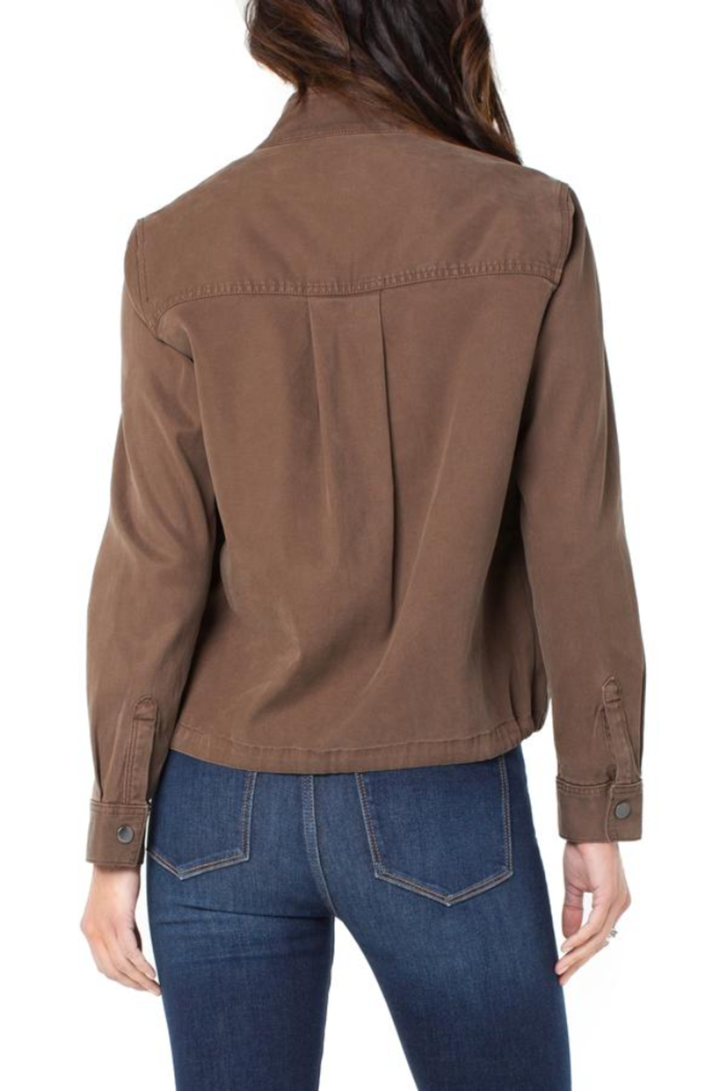 Liverpool  Cinch Waist Jacket With Patch Pockets - Side Cropped Image