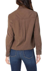 Liverpool  Cinch Waist Jacket With Patch Pockets - Side cropped
