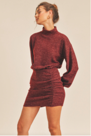 Lush  Cinched Knit Dress - Back cropped