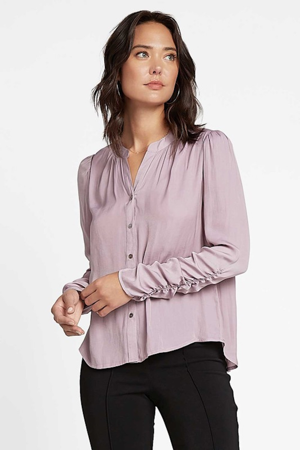 Current Air Cinched L/S Blouse - Main Image
