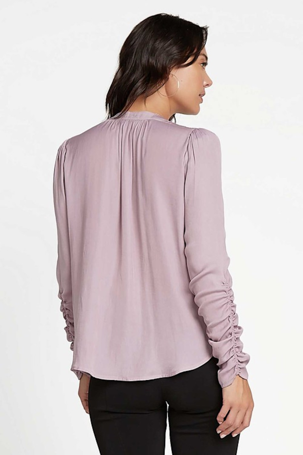 Current Air Cinched L/S Blouse - Front Full Image