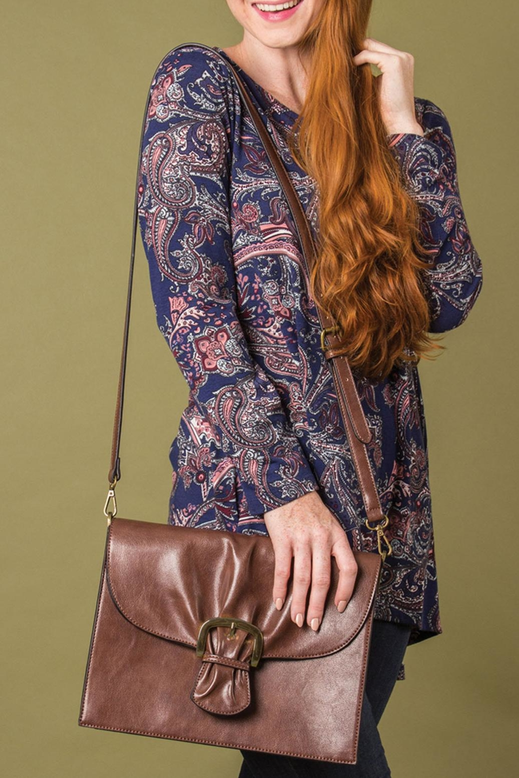 Simply Noelle Cinched Signature Bag - Front Full Image