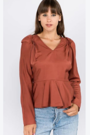 Ontwelfth Cinched sleeve top - Product Mini Image
