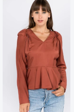 OnTwelfth Cinched sleeve top - Product List Image