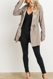 Charme U Cinched Taupe Jacket - Product Mini Image