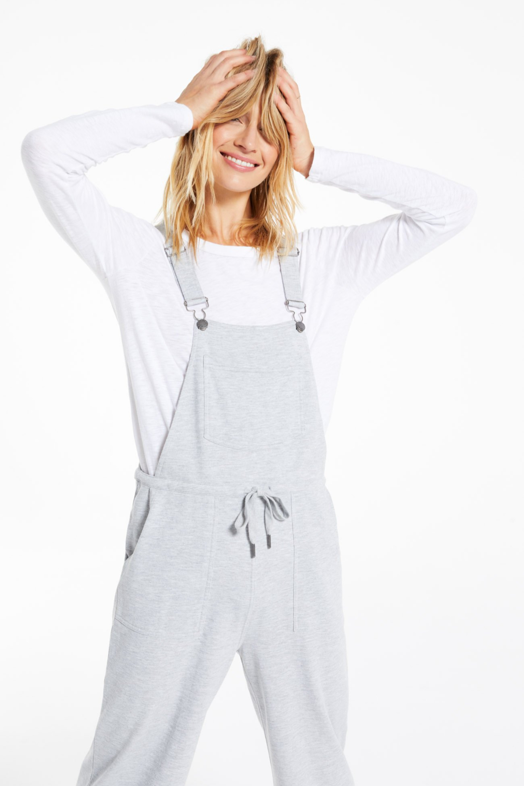 z supply Cinched Waist Overalls - Front Full Image
